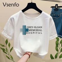 Grey Sloan Memorial Hospital T-Shirt Women Grey's Anatomy Wo