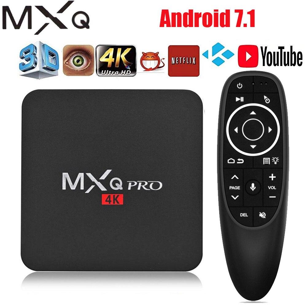 Android tv box MXQ pro 4K Android 7,1 HD 3D 2,4G WiFi S905W четырехъядерный Медиаплеер smart tv Android tv box можно подписаться на IP tv ТВ-приставки и медиаплееры      АлиЭкспресс