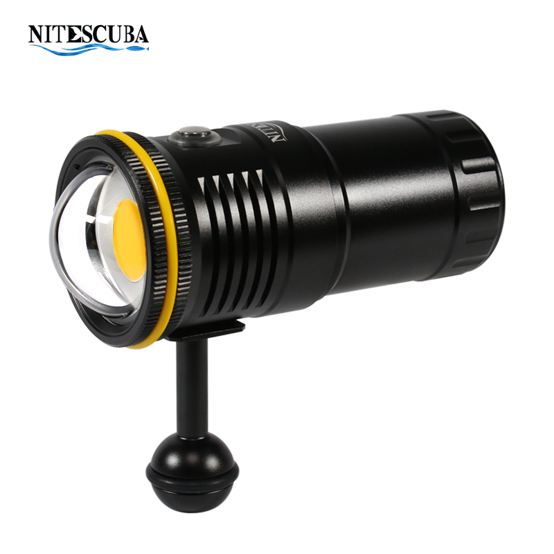 NiteScuba NSV60  Diving Strobe Video Light 5000K Flashlight 6000LM