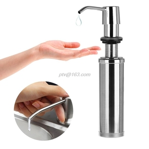 Image 3 - 300ml Soap Dispenser Lotion Pump Liquid Detergent Built In Installation Hand Sanitizer Organizer Stainless Steel For Bathroom Ki