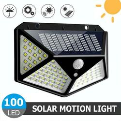 100 Led Solar Licht Outdoor Solar Wand Lampe Led-lampe IP65 PIR Motion Sensor Lampara Solar Beleuchtung Garten Dekoration Lichter 20W