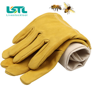 Image 4 - Beekeeping Gloves Protective Sleeves Ventilated Professional Sheepskin And Canvas Anti Bee For Apiculture Beekeeping Gloves