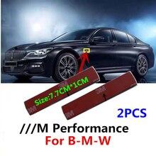 Наклейка с эмблемой на боковое крыло автомобиля, наклейка для Bmw M M3 E90 E60 F10 F20 F30 E46 G20 X1 X3 X4 X5 X6 E70 F20 E39 E92, 2 шт.