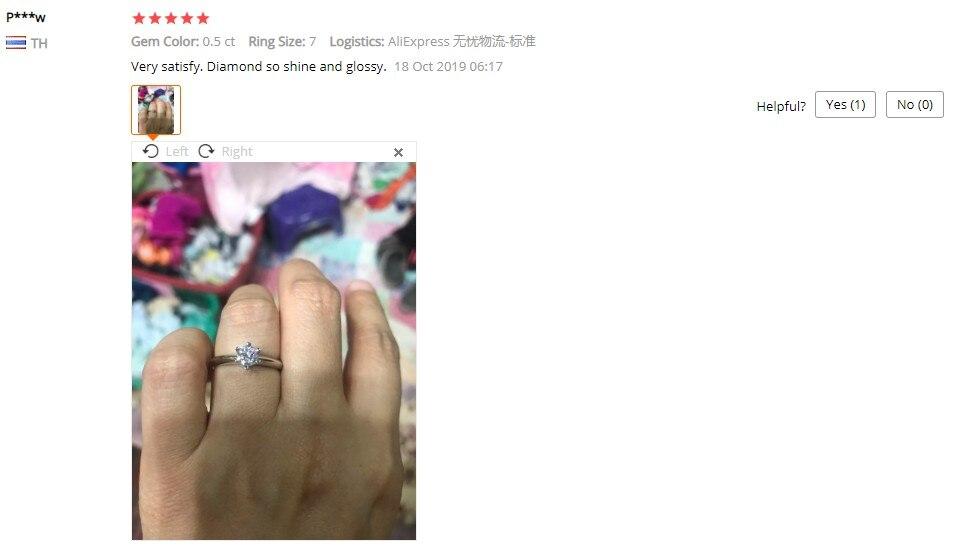 mulher noivado s925 prata anel chapeado pt950