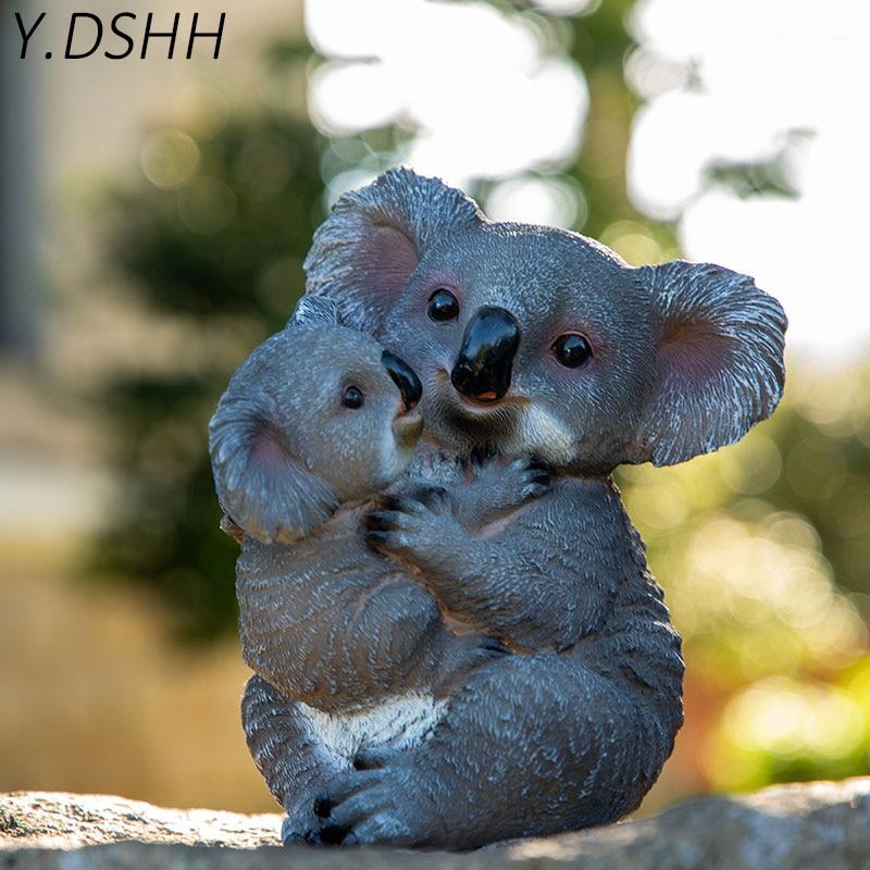 Forma de Esculturas de Jardim para a Decoração do Jardim ao ar Livre à Prova Água ao ar Animal da Resina Dshh Koala Livre Quintal Jardim Decoração Esculturas y. d'