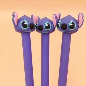 Image 3 - 36 ชิ้น/ล็อต Stitch ปากกาเจล 0.5 มม.หมึกสีดำปากกาสำนักงานโรงเรียนเครื่องเขียนของขวัญ
