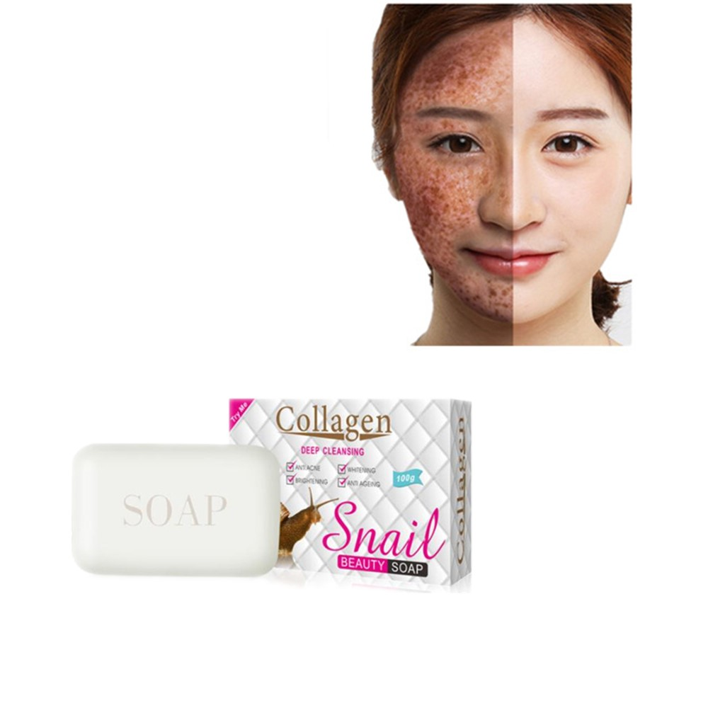 Whitening And Freckle Removing Soap Acne Prevention.freckle Removing Anti-oxidation And Water Supplement Hand-made Snail Soap