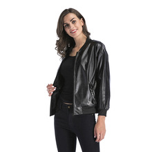 Fashion trend jacket jacket slim jacket loose stand collar zipper leather jacket jacket jacket junona jacket