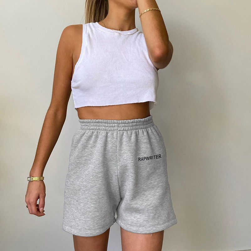 Fashion <font><b>Sexy</b></font> <font><b>shorts</b></font> Letter Printed Loose Leisure Sports Spodenki Damskie Summer <font><b>Shorts</b></font> Feminino 2020 Vetement women's image