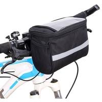 Portátil alça de bicicleta estrada bicicleta pannier quadro esporte à prova dlarge água grande capacidade ao ar livre saco frontal bolso prático ciclismo bolsa|Cestos e bolsas p/ bicicleta|   -