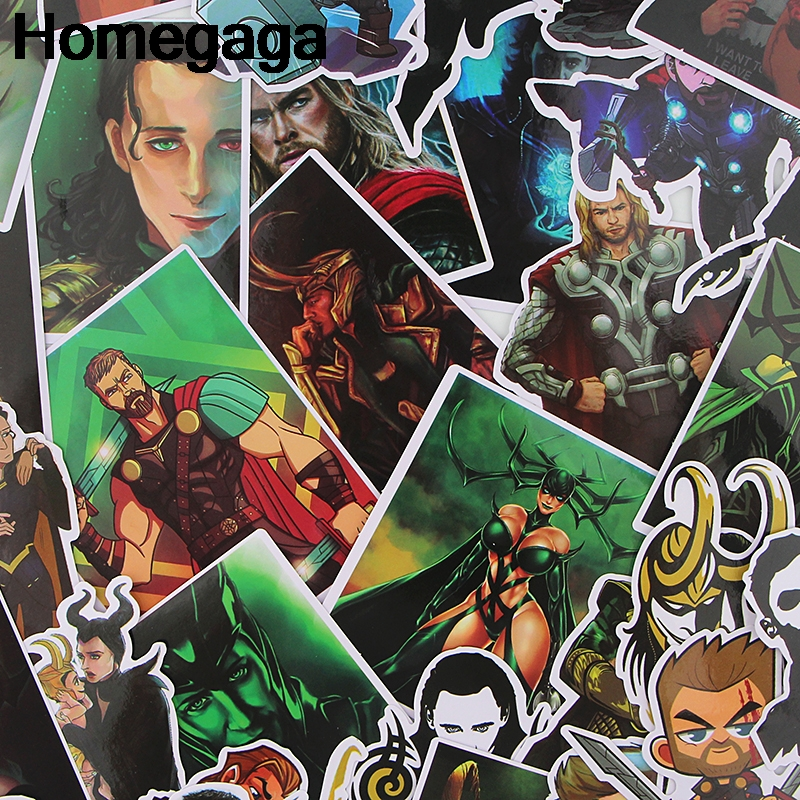 Homegaga 37pcs Thor Kids Toy Sticker pack for DIY scrapbooking album car Luggage Laptop Phone notebook decals Waterproof D2298