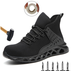 New fashion safety boots men's steel toe breathable and smash-resistant work shoes sports shoes casual men's shoes large size 48