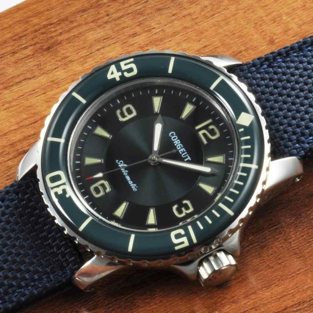 45 мм зеленый циферблат часы Автоматические Ретро дизайн механические светоизлучающие Miyota часовой механизм для мужчин люксовый бренд relogio a prova