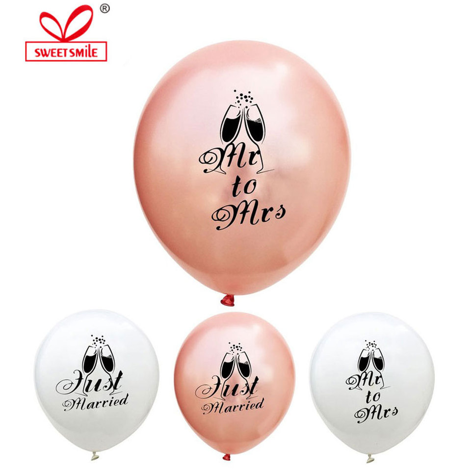 Rose Gold Balloons 11 Latex Room Decor Rose Gold Confetti Balloons Bride Aisle Decor Engaged Mr Mrs Event Balloons Wedding Balloons