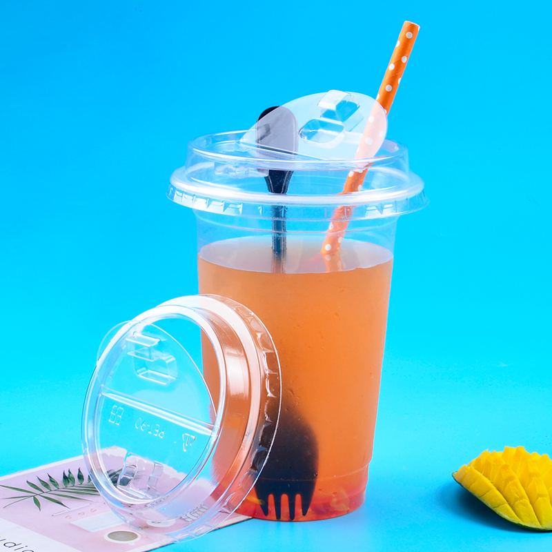 50 piezas de calibre 90 transparente taza de café desechables 500ml 16oz de jugo de té de leche de agua de soda de embalaje para llevar taza creativa tapa-in Vasos desechables from Hogar y Mascotas    1