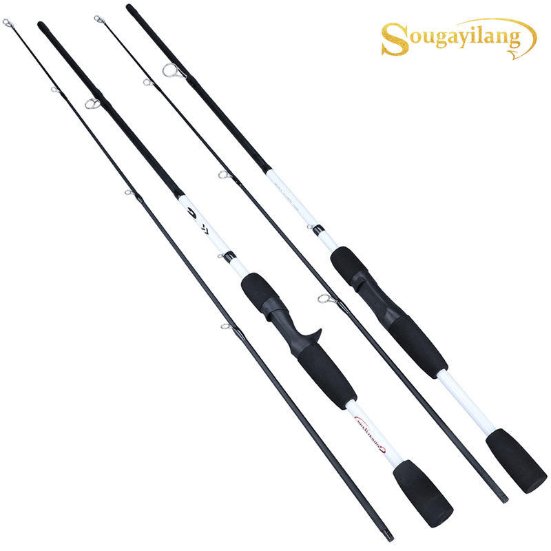 Sougayilang 2 Sections Carbon  Spinning/Casting Fishing Rod  Ultralight Weight Fishing Pole Travel Rod Fishing Tackle Pesca