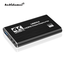 Карта захвата видео, совместимая с USB 3,0, 4K, HDMI, 1080P, USB 2,0