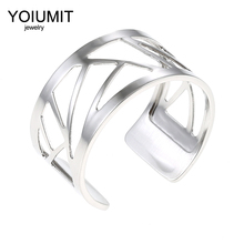 Cremo DIY Open Ring Argent Resizable Finger ring For Women Bijoux homme stainless steel Interchangeable Leather Bague Femme