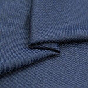 Serge farbic-tissu en laine sergé bleu foncé   Laine peignée, tissu fantaisie peigné WF242