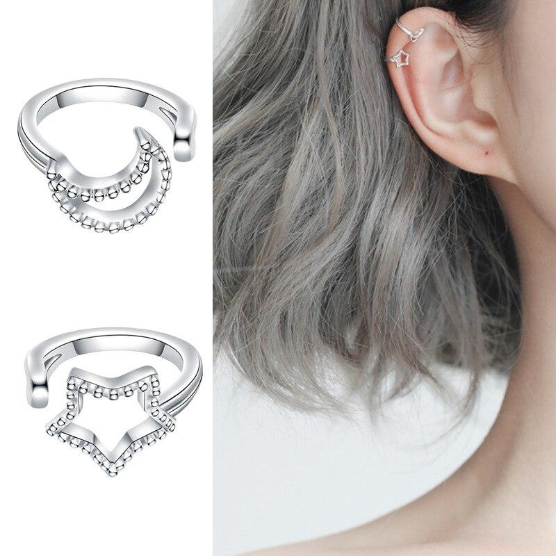 925 Sterling Silver Solid Non-Pierced Earrings