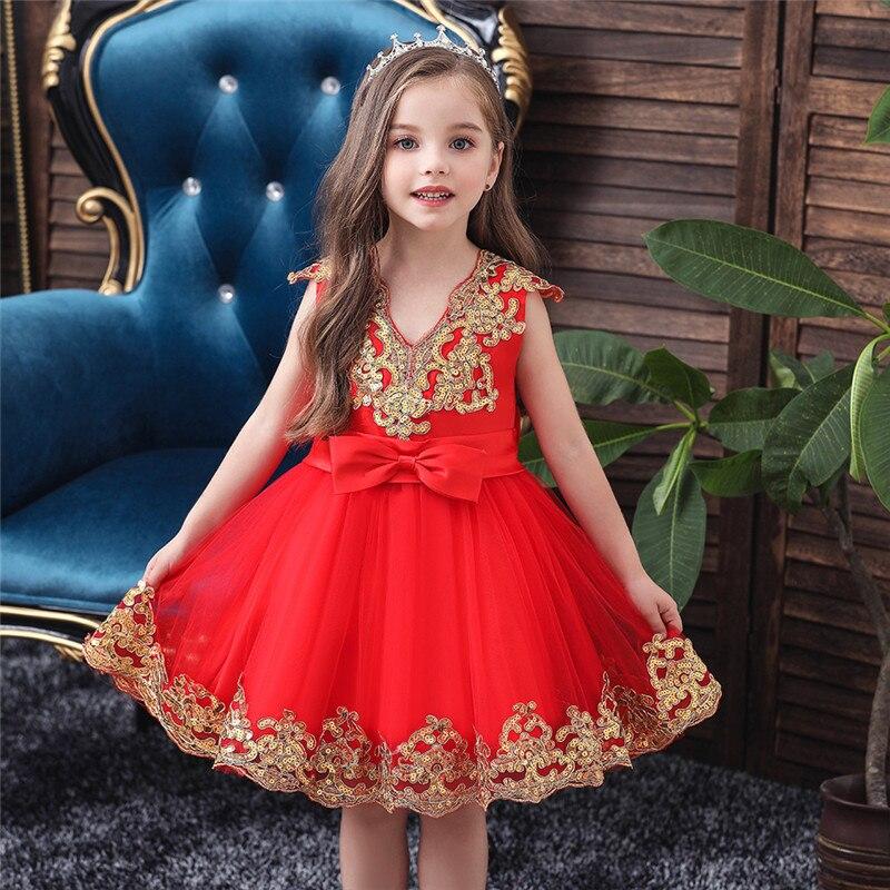 Flower Girl Dress For Kids Wedding Baby Girl Dress 2 3 4 5 6 7 8 10 12 Years Birthday Baby Girls Evening Party Dresses Vestidos