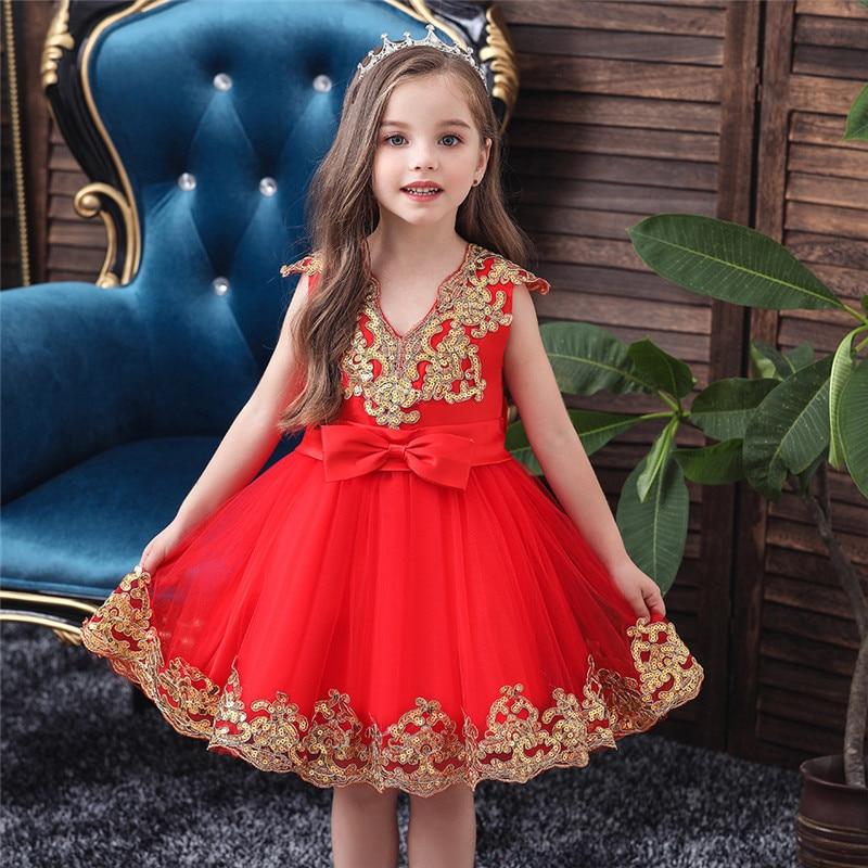vestido da menina de flor para criancas casamento vestido da menina do bebe 2 3 4