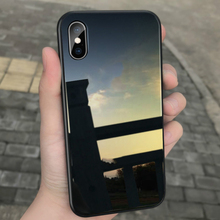 Luxury Tempered Glass Phone Cases For iPhone 7 8 6 6s Plus Glass Back Silicone Shockproof Cover For iPhone 11 Pro X XR XS MAX SE