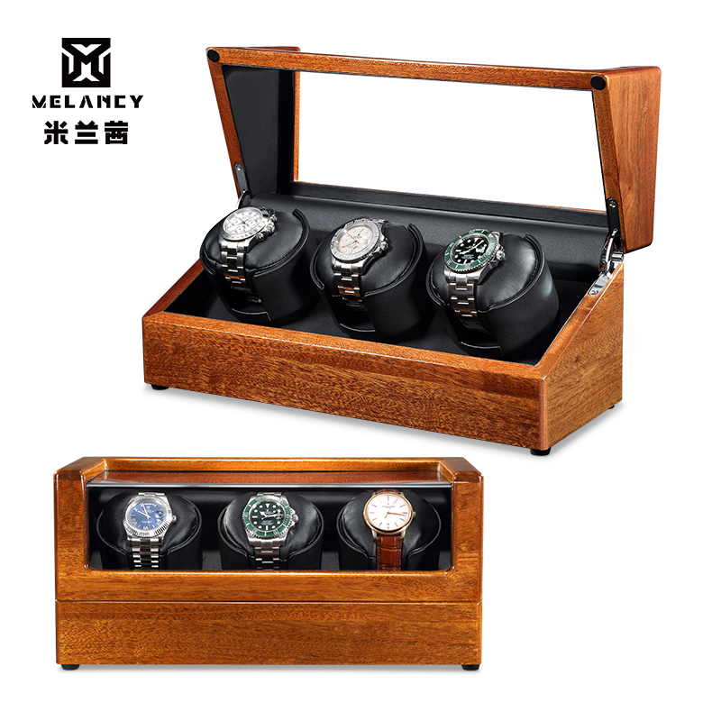 Wood Automatic Watch Winder Box High Class Winding Storage Holder Display Watch Box Quiet Motor Shaker Box for Watch