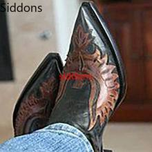 Winter Ankle Boots Men Shoes Pointed Toe Vintage Classic Mal