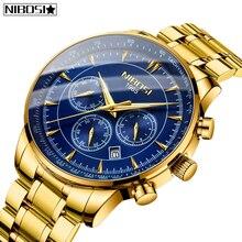 NIBOSI Relogio Masculino marki nowe mody męskie zegarki Top marka luksusowe wodoodporny zegarek kwarcowy mężczyźni Big Dial biznesowy zegarek męski