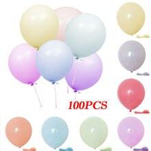 Pack von 100 Macaron Candy Farbige Luftballons Pastell Latex Ballons 10 Zoll Für Geburtstag hochzeit party dekoration