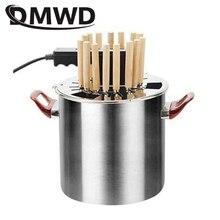 DMWD Электрический гриль кебаб барбекю гриль бездымный гриль из нержавеющей стали печь автоматический вращающийся шашлык машина плита