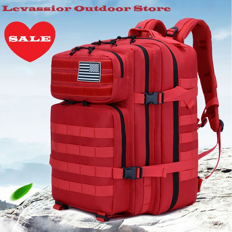 50L Military Molle Backpack Tactical Army Men Travel Waterproof Rucksack Tourist Bagpack Rain Cover Mochila Tatica Camping Canta