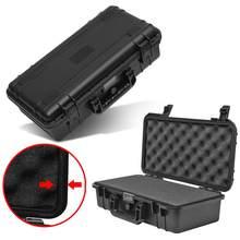 Schutz Sicherheit Instrument fall Toolbox Stoßfest wasserdichte Werkzeug Fall Auswirkungen Beständig Kunststoff Koffer mit schwamm
