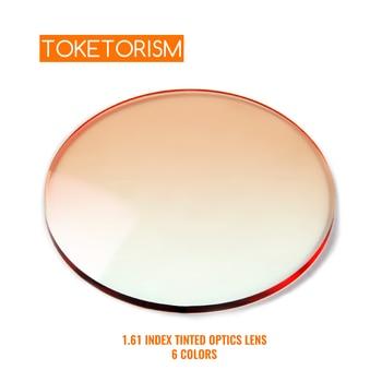 Toketorism Anti Reflective Prescription Lenses UV Gradient Tint Lens for Glasses Frame and Trimming Rimless Sunglass