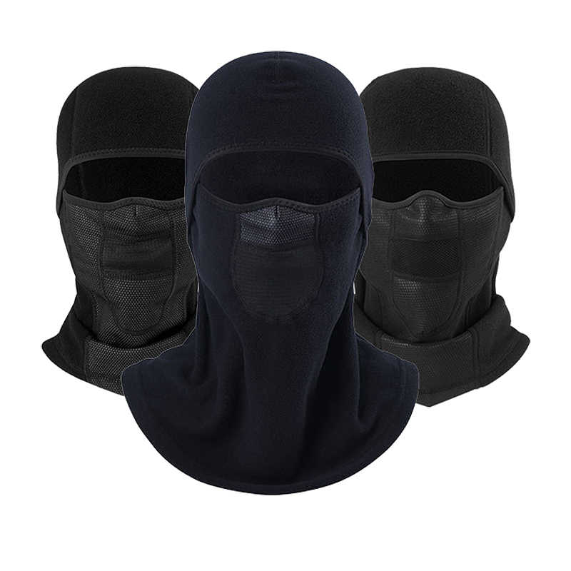 Winter Motorcycle Balaclava Neck Warmer Polar Fleece Face Mask Wool Full  Breathable Windproof Bicycle Ski Snowboard Mask