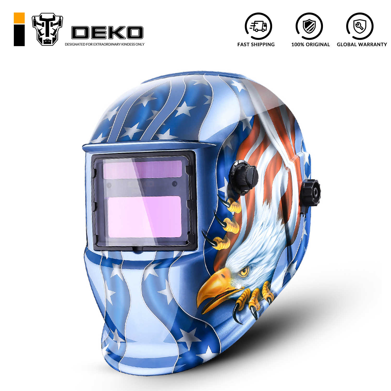 Solar Auto Darkening Arc Pro Welding Helmet Mask Grinding Protector US 3 Lens