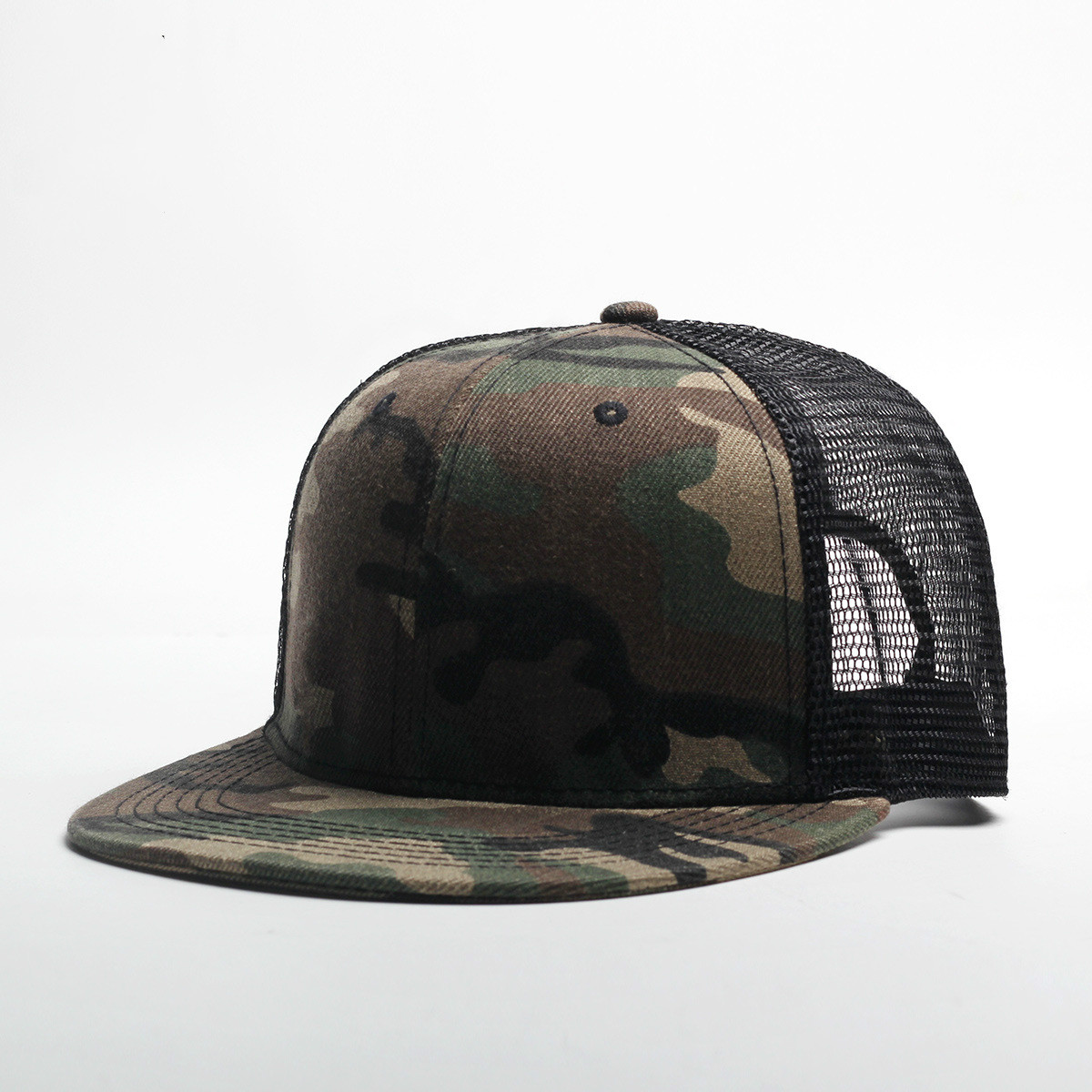 2019 New Spring And Summer Solid Color Mesh Flat Hat Men's And Women's Sports Hat Fashion Hip Hop Hat