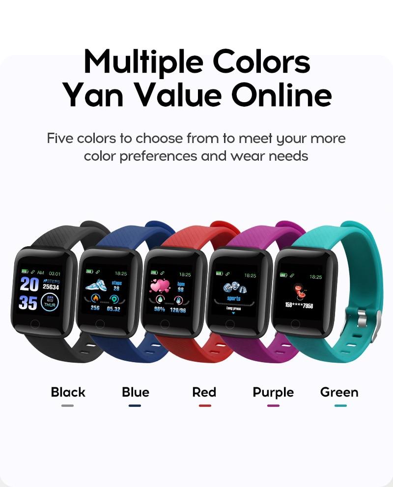 Hc0ab868d1ee64752a1d70d255303549en Smart Watch Men Women Smartband Blood Pressure Measurement Waterproof Fitness Tracker Bracelet Heart Rate Monitor Smartwatch