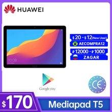 Глобальная версия HUAWEI Mediapad T5 планшетный ПК с системой андроида и 1080P Full HD 2 Гб оперативной памяти, 32 Гб встроенной памяти, 10,1 дюймов 4 аппарат н...