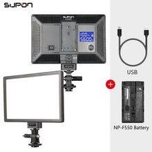 SUPON L122T LED 울트라 씬 LCD 바이 컬러 및 디 밍이 가능한 사진 조명 스튜디오 비디오 램프 패널 캐논 카메라 사진 조명