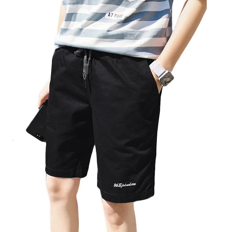 Shorts Men  Casual Men Short Breathable Cotton Slim Bermuda Masculina Surfings Beach Short Trouser Knee Length Board Shorts