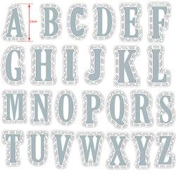 52 шт./компл. большой 10 см A-Z алфавиты большой металлический Трафаретный вырубной штамп (13 см) Пластик трафарет для DIY Скрапбукинг ремесла Бума...