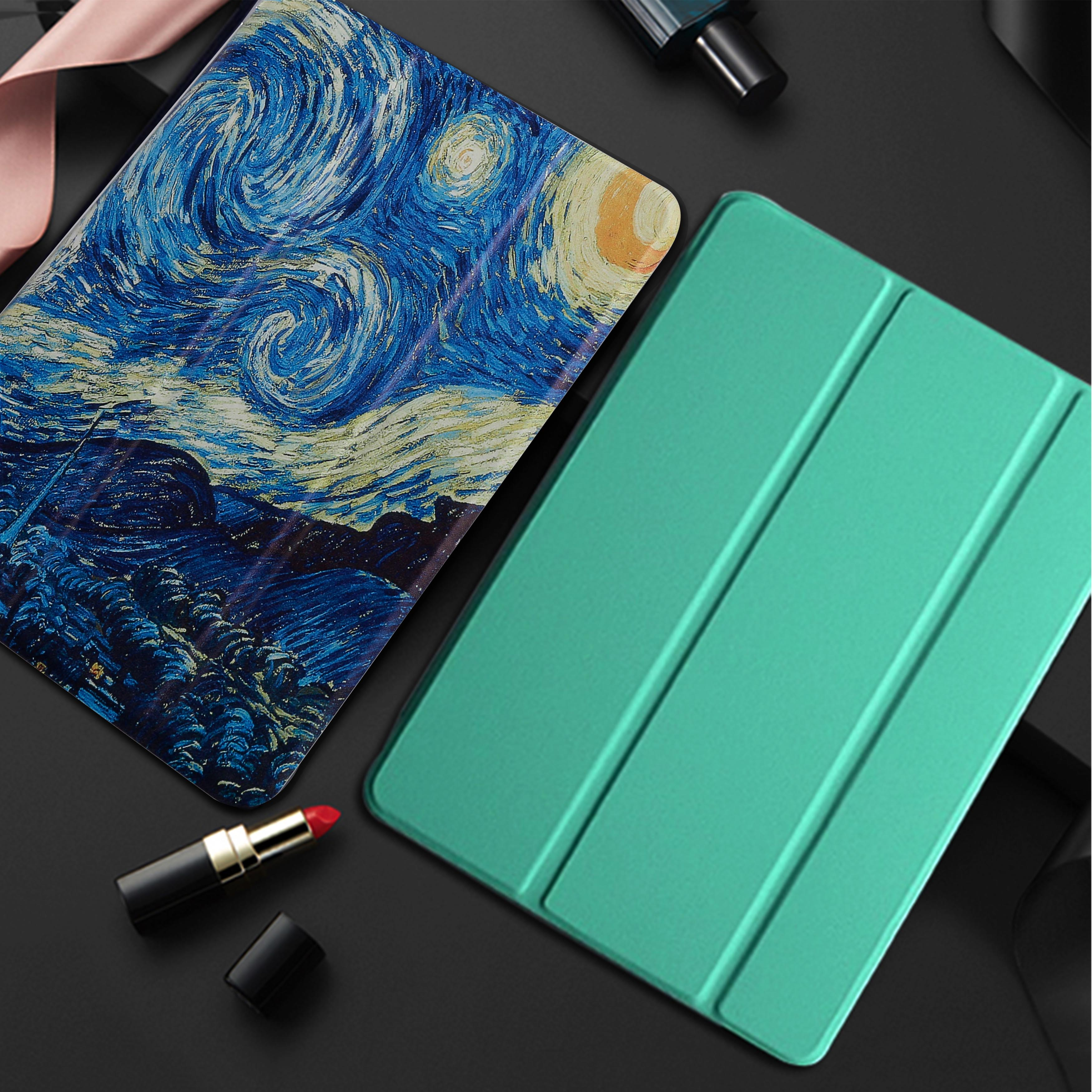 Tablet Case For iPad 9.7 2018 2017 A1893 A1954 A1822 fundas PU Ultra Slim wake Smart Cover Case for iPad 5 6 5th 6th Generation image