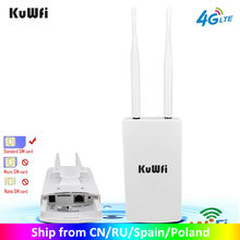 Kuwfi Waterdichte Outdoor 4G Cpe Router 150Mbps CAT4 Lte Routers 3G/4G Sim-kaart Wifi router Voor Ip Camera/Buiten Wifi Dekking(China)