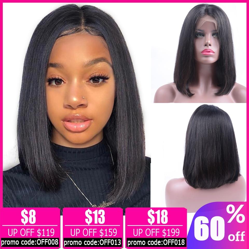 13x4 Bob Lace Front Wigs Brazilian Wig Straight Lace Front Wig Short Lace Front Human Hair Wigs For Black Women Pixie Cut Wig
