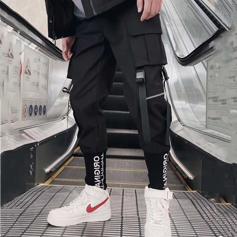 Streetwear Pantalones Cargo Hip Hop Casual Multi Bolsillos Harem Pantalones Hombre Joggers Pantalones Moda Para Hombres Ropa De Hombre Pantalones Hasta El Tobillo Harajuku Sport Casual Pantalones Holgados Para Correr Pantalones Informales