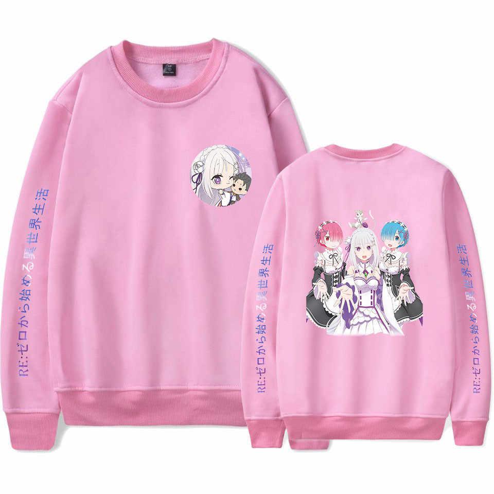 Re Nul Hoodie Capuchon Trui Jas Sweater Voor Mannen Vrouwen Kids Meisjes Kleding Kleding Rem En Ram Japanse Anime