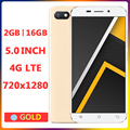 4G LTE 5.0 Inch Screen 5e Smartphones Global Version 2G RAM+16G ROM Quad Core Cellphone 5MP HD Android Mobile Phones Celulares
