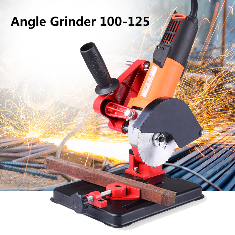 Angle Grinder Stand Bracket Holder Cutter Support Metal Cutting Machine Power Tools Accessories For 100 115 125mm Angle Grinder